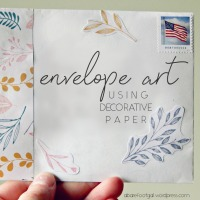 Envelope Art With Decorative Paper