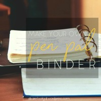 Make Your Own Pen Pal Binder